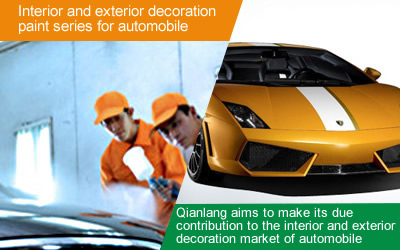 Interior and exterior decoration paint series for automobile